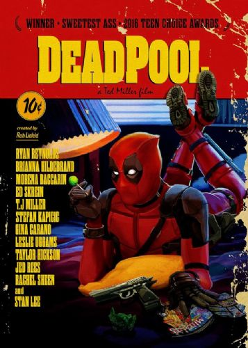 2010's Movie - DEADPOOL - PULP FICTION STYLE canvas print - self adhesive poster - photo print